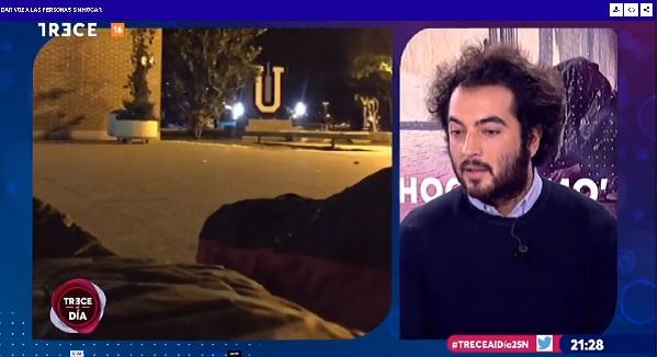 carballo En el #DíadelVoluntariado,Alejandro Carballo, del departamento de Acción Social, explica en 13tv cómo fue la #LaNocheSinHogar en la UFV
