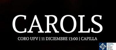 concierto carols ufv Actividades Culturales