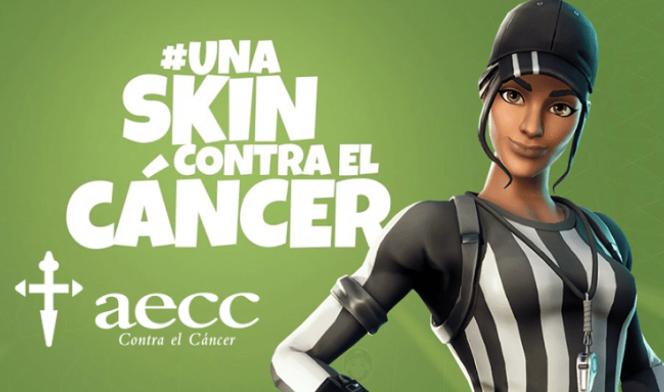 unaskincontraelcancer e1578473505216 Alumnos de Videojuegos de la UFV diseñan skins para el juego Fortnite, colaborando así con la AECC