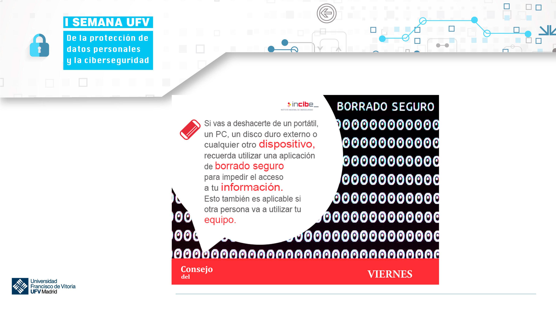 consejo viernes ufv Semana de la protección de datos personales y la ciberseguridad