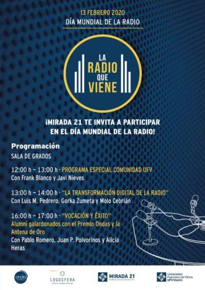 Cartel Día Mundial de la Radio 1 e1580989417534 Javi Nieves y Frank Blanco, entre los invitados en  el Día Mundial de la Radio en la UFV Estudiar en Universidad Privada Madrid
