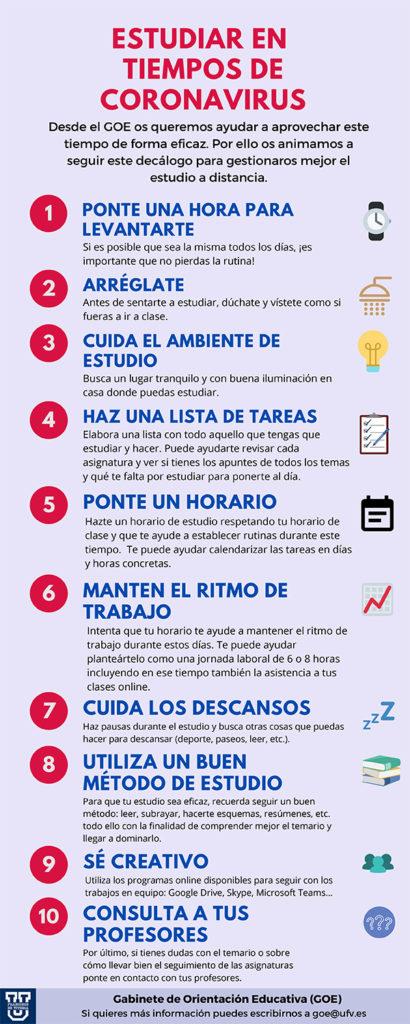 Estudiar en tiempos de coronavirus 410x1024 Estudiar en tiempos de Coronavirus: 10 consejos para los alumnos Estudiar en Universidad Privada Madrid