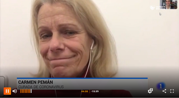 carmen pema tve Carmen Pemán, asistente de Dirección de Relaciones Institucionales, cuenta su recuperación tras el aislamiento y da un mensaje de esperanza y agradecimiento a todos los que la han acompañado estos días Estudiar en Universidad Privada Madrid