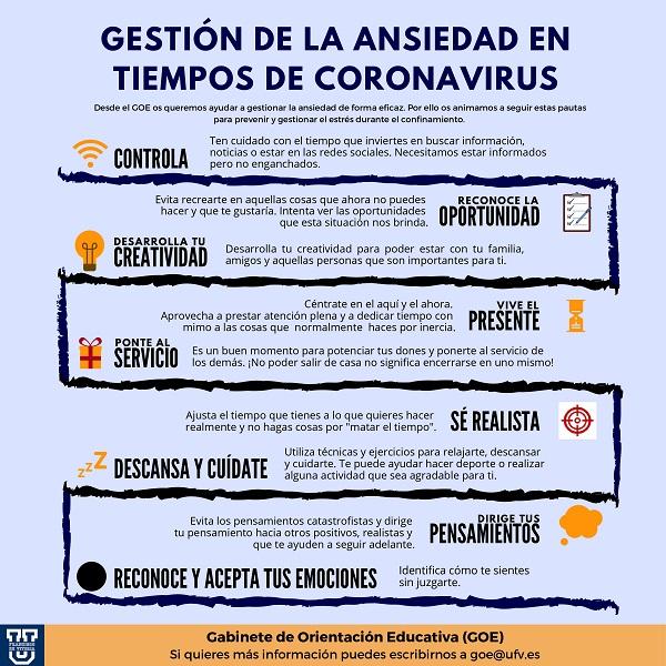 Tips ansiedad GOE page 0001 Gestión de la ansiedad en tiempos del Coronavirus: descubre las recomendaciones del GOE UFV Estudiar en Universidad Privada Madrid
