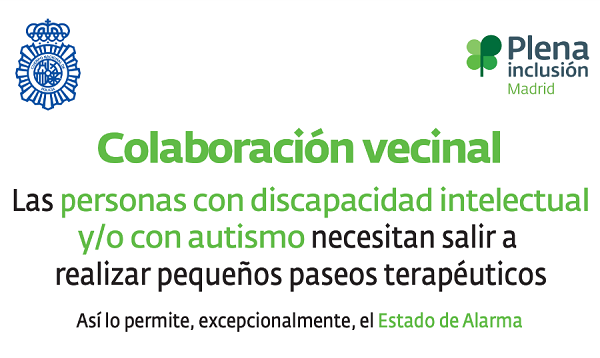 UFV policia naciona inclusion La UFV se suma a la campaña de Policía Nacional para no discriminar a las personas con discapacidad intelectual o autismo