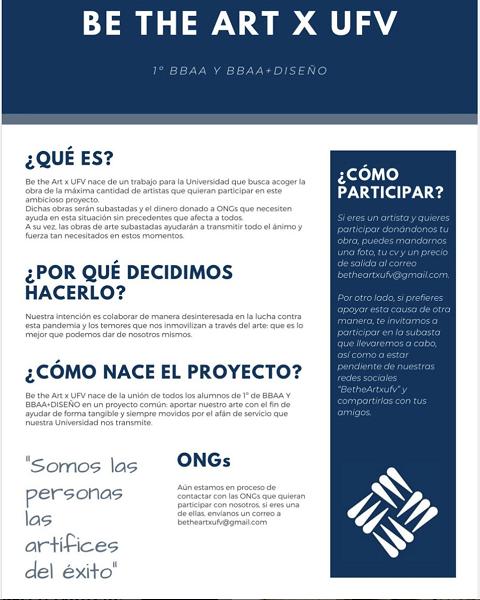 betheartufv Be the Art x UFV, iniciativa de los alumnos de BBAA y Diseño de la UFV para hacer frente a los efectos del COVID 19 Estudiar en Universidad Privada Madrid