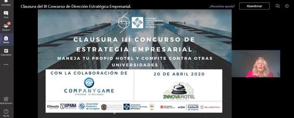 clausura concurso estrategia2 Ganadores del III Concurso de Dirección Estratégica Empresarial Estudiar en Universidad Privada Madrid
