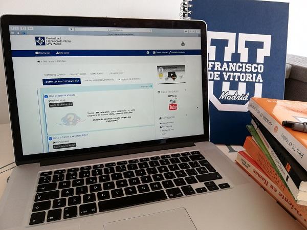 examenes remoto La Universidad Francisco de Vitoria (Madrid) inicia la evaluación final en remoto Estudiar en Universidad Privada Madrid
