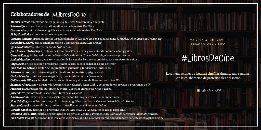 2 #LibrosDeCine, la iniciativa creada por Juan María Villagrán para celebrar la Semana del Libro Estudiar en Universidad Privada Madrid