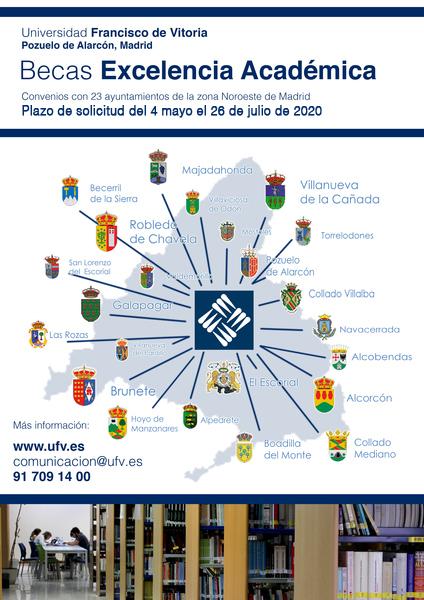 Becas Ayto 2020 Se abre el plazo para solicitar una beca para estudiar en la Universidad Francisco de Vitoria para empadronados en ayuntamientos del entorno