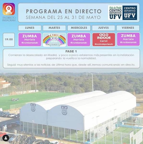 Centro Deportivo Conoce la parrilla de actividades online que organiza el Centro Deportivo para esta semana