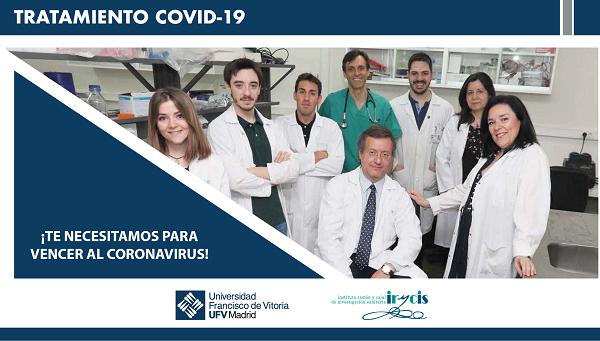 ParemoselCovid La Universidad Francisco de Vitoria pone en marcha el proyecto de crowdfunding 'Paremos el COVID' para ayudar a financiar una investigación sobre el COVID 19 Estudiar en Universidad Privada Madrid