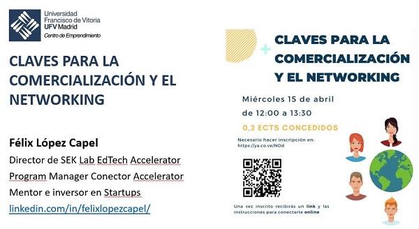 claves comercializacion networking taller Concluyen los talleres de emprendimiento UFV del curso 2019/20 con Claves para la Comercialización y Networking