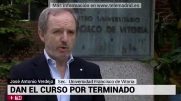 %name José Antonio Verdejo, secretario general de la UFV, adelanta las medidas de seguridad de cara al próximo curso
