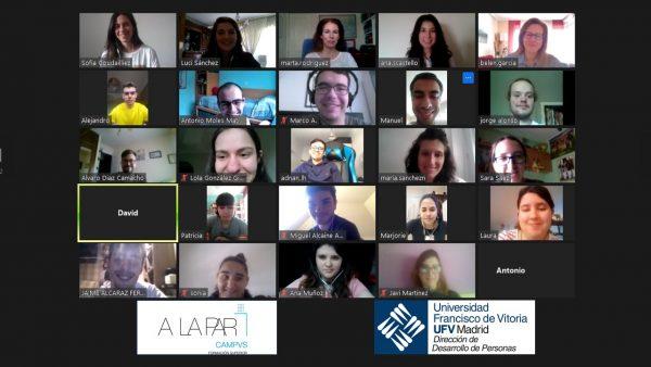 A LA PAR 2 e1592309816726 El equipo de Selección y Gestión del Talento de la UFV imparte una sesión formativa para Fundación A LA PAR Estudiar en Universidad Privada Madrid