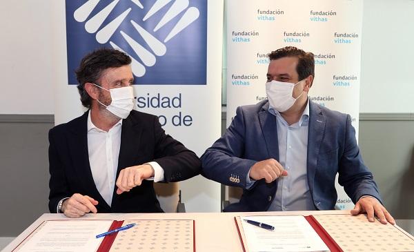 IMG 3319a Vithas, Fundación Vithas y la Universidad Francisco de Vitoria firman un convenio para impulsar la docencia y la investigación en salud Estudiar en Universidad Privada Madrid