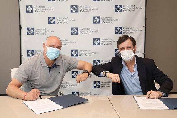 Firma convenio La Universidad Francisco de Vitoria (Madrid) será la sede del Pablo Laso Training Camp