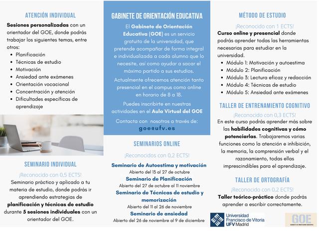%name Conoce las actividades del GOE para el primer cuatrimestre del curso 2020/21 Estudiar en Universidad Privada Madrid