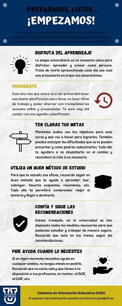 Tips para el inicio de curso page 0001 1 El GOE UFV comparte seis consejos para aprovechar al máximo tu paso por la universidad Estudiar en Universidad Privada Madrid