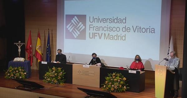 inauguración curso 4 La Universidad Francisco de Vitoria (Madrid) inaugura el Curso Académico 2020/2021 apostando por la vuelta a una presencialidad segura con el compromiso de todos Estudiar en Universidad Privada Madrid