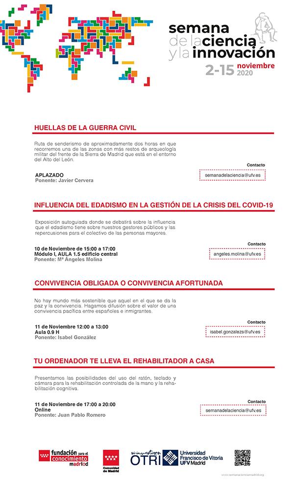 Cartel Semana de la Ciencia 2020 Semana de la Ciencia y la Innovación Estudiar en Universidad Privada Madrid
