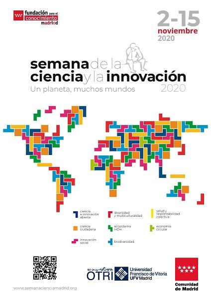Cartel Semana de la Ciencia def La UFV acoge un año más una nueva edición de la Semana de la Ciencia con actividades online Estudiar en Universidad Privada Madrid