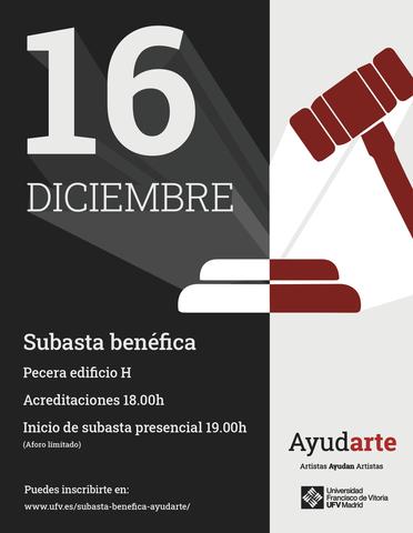 %name La Universidad Francisco de Vitoria organiza el 16 de diciembre la subasta benéfica AyudARTE para crear una bolsa de becas para los alumnos afectados por la COVID 19 Estudiar en Universidad Privada Madrid