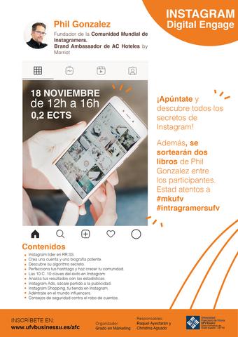 %name Seminario 'Instagram Digital Engage': con Phil González, fundador de la Comunidad Mundial de Instagramers Estudiar en Universidad Privada Madrid