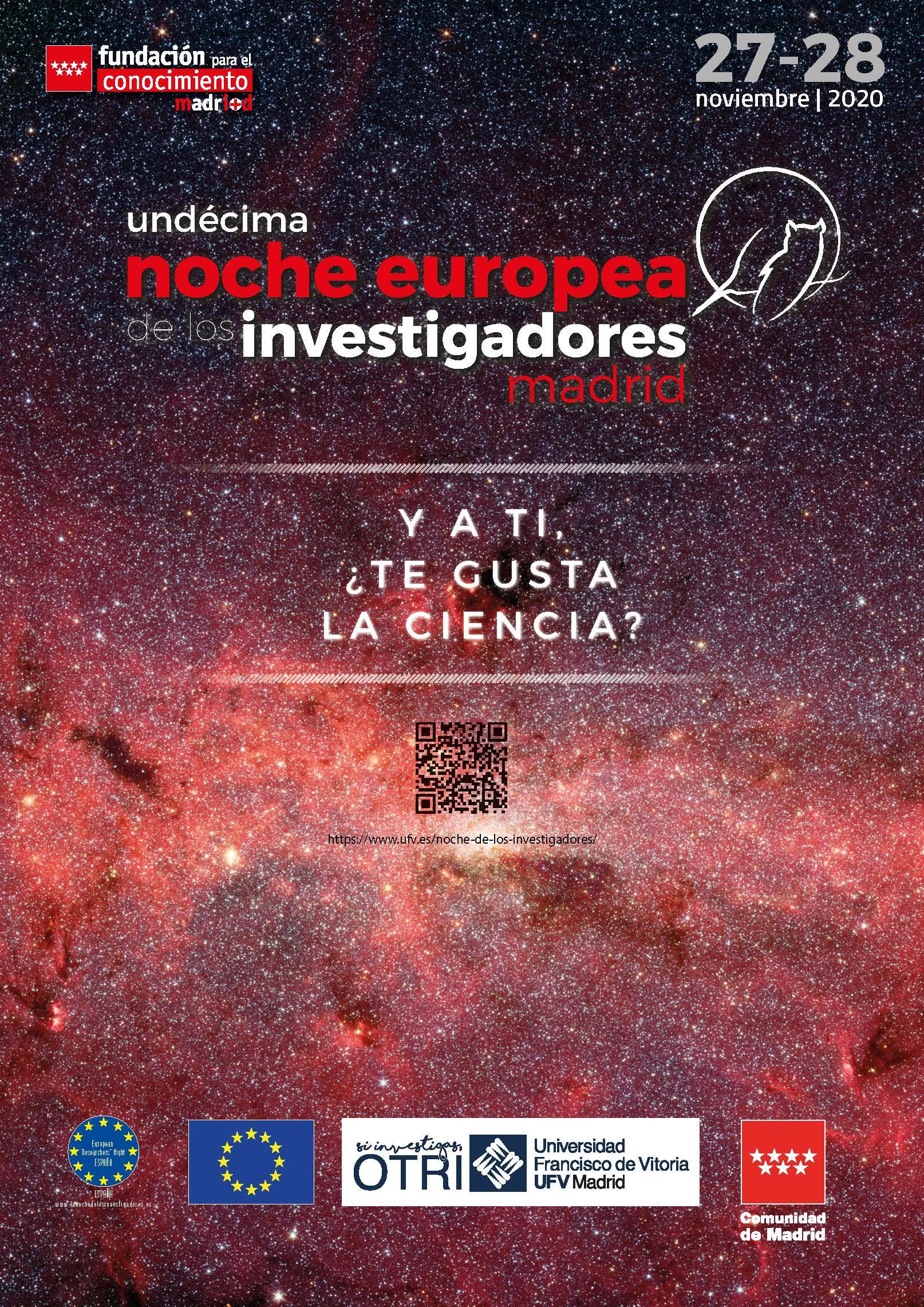 2020 11 17 cartel noche europea 2020 Oficina de Transferencia de Resultados de Investigación (OTRI) Estudiar en Universidad Privada Madrid