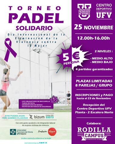 %name El Departamento de Deportes y el Centro Deportivo organizan un Torneo de Pádel Solidario por el Día Internacional del la Eliminación de la violencia contra la mujer Estudiar en Universidad Privada Madrid