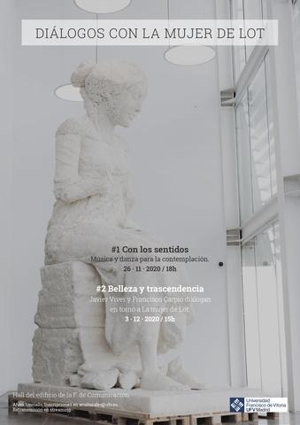 %name 'Diálogos con la Mujer de Lot': dos jornadas de arte entorno a la escultura de Javier Viver Estudiar en Universidad Privada Madrid