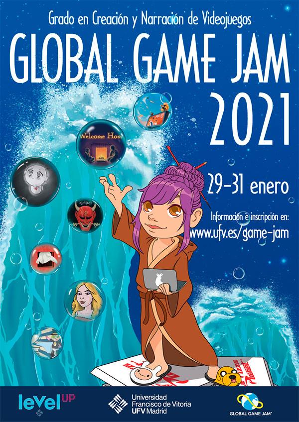 Cartel Global Game Jam UFV web Game Jam Estudiar en Universidad Privada Madrid
