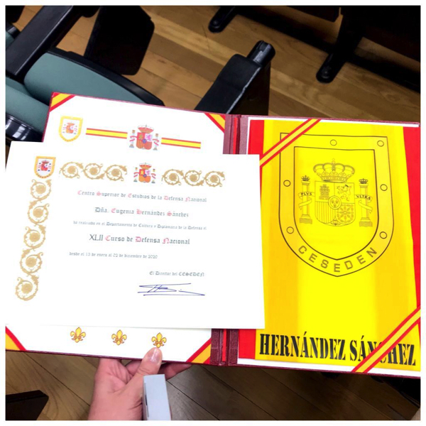 %name Eugenia Hernández, profesora del Grado en RRII UFV, obtiene el diploma superior en Altos Estudios de la Defensa Nacional Estudiar en Universidad Privada Madrid
