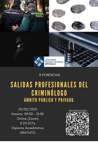 %name Jornadas 'Salidas profesionales del Criminólogo: ámbito público y privado' Estudiar en Universidad Privada Madrid