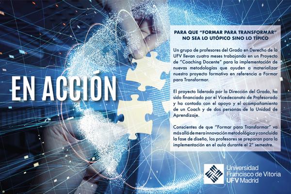 gradoderechoufv El Grado en Derecho comienza a implementar el proyecto formativo Formar para transformar Estudiar en Universidad Privada Madrid