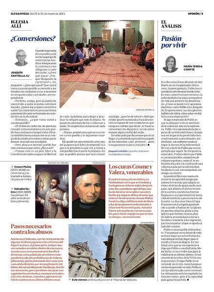 Articulo Alfa y Omega La prensa se hace eco del libro Diario de un trasplantado, de Pablo Delgado de la Serna, profesor de los grados en Fisioterapia y CAFYD de la UFV Estudiar en Universidad Privada Madrid