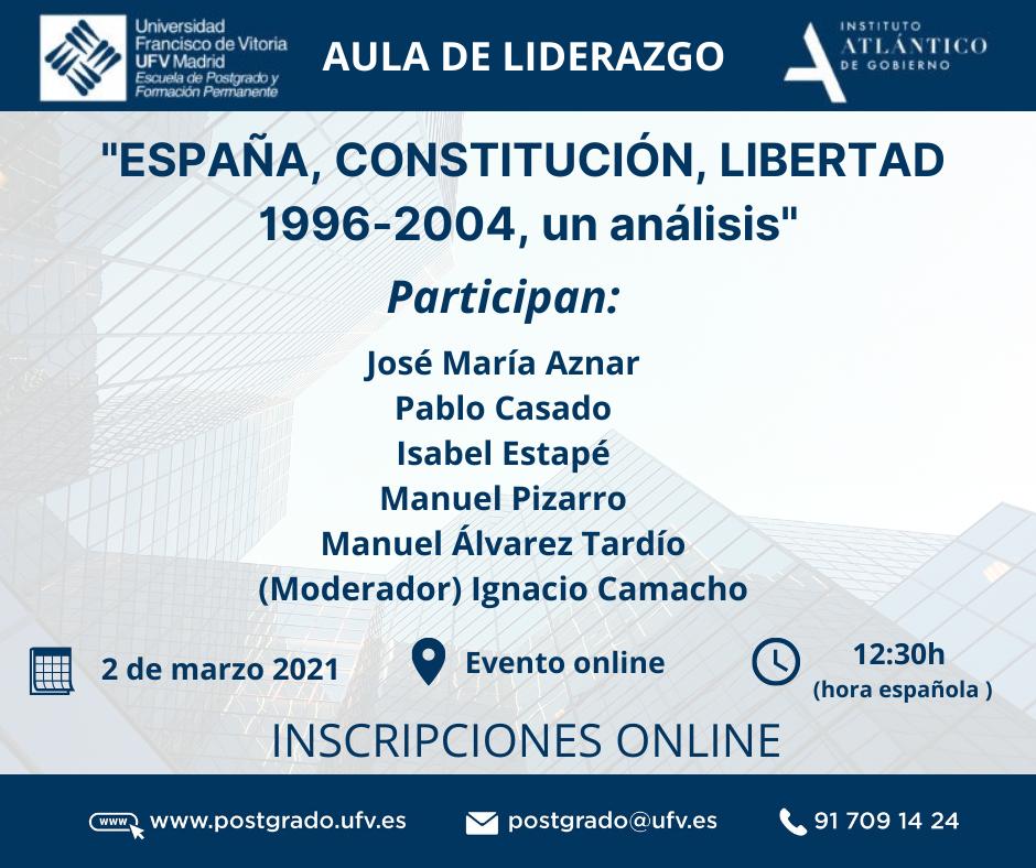 ESPANA CONSTITUCION LIBERTAD 1996 2004 un analisis  3 actualidad UFV Estudiar en Universidad Privada Madrid