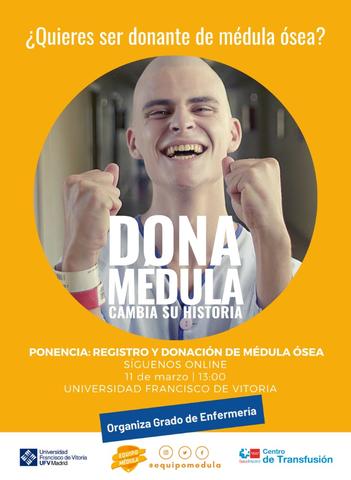%name ¿Quieres ser donante de médula ósea? Asiste a la jornada de información online organizada por el Grado de Enfermería Estudiar en Universidad Privada Madrid