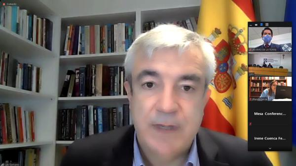 Luis Garicano Videollamada Luis Garicano, eurodiputado de Ciudadanos, participa en el coloquio de la Sociedad de Estudios Políticos UFV Estudiar en Universidad Privada Madrid