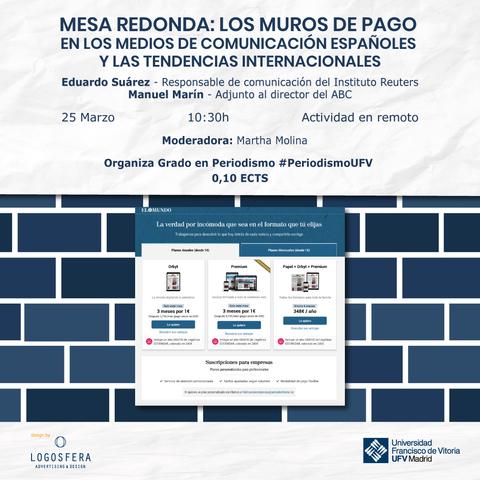 muros de pago La UFV analiza los muros de pago en los medios digitales y el entorno digital Estudiar en Universidad Privada Madrid