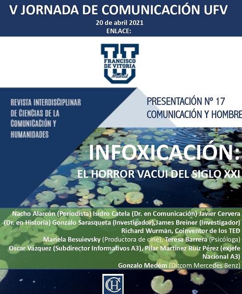 CARTEL 2 page 0002 La Revista Comunicación y Hombre organiza la V Jornada de Comunicación UFV sobre infoxicación Estudiar en Universidad Privada Madrid