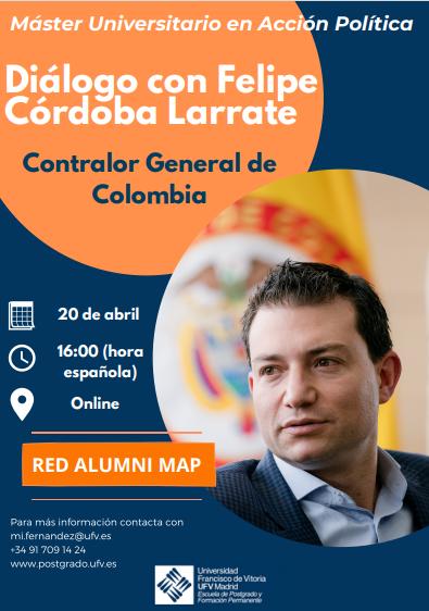 Dialogo Rafael Diálogo con Felipe Córdoba Larrate el martes 20 de abril Estudiar en Universidad Privada Madrid