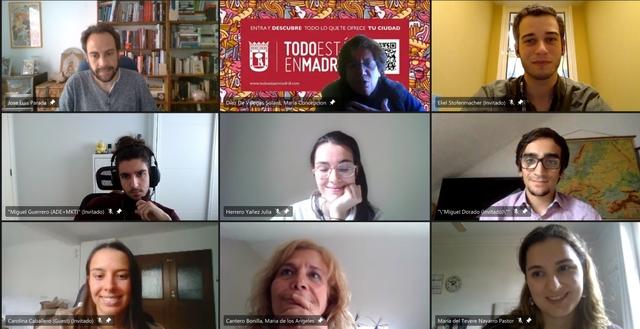Encuentro vallermoso Los Trabajos de Fin de Grado de VallehermosoCircular se reúnen con la directora general de Comercio de Madrid Estudiar en Universidad Privada Madrid