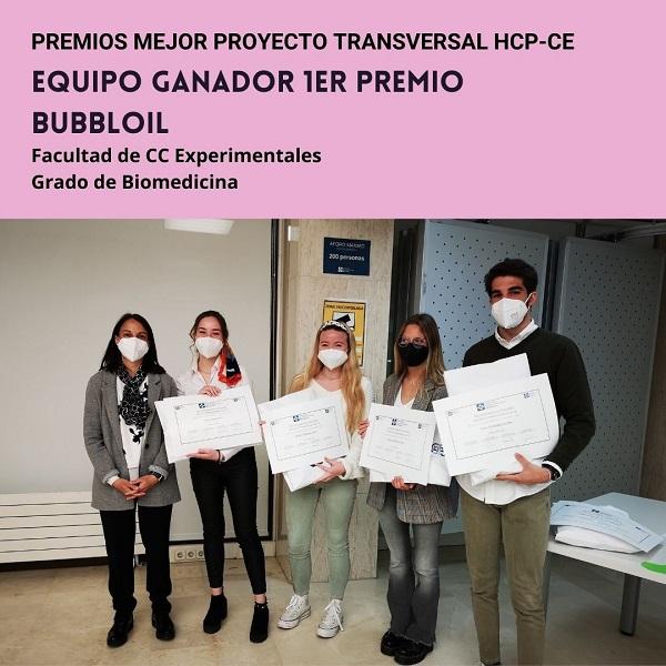 Grupo 1 Se entregan los premios a los grupos ganadores del mejor proyecto transversal HCP CE Estudiar en Universidad Privada Madrid