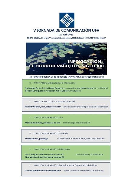 PROGRAMA 3 page 0002 La Revista Comunicación y Hombre organiza la V Jornada de Comunicación UFV sobre infoxicación Estudiar en Universidad Privada Madrid