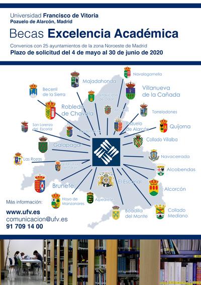 Becas Ayto ACTUALIZADO 2021 1 BECAS POR EXPEDIENTE ACADÉMICO PARA ALUMNOS DE AYUNTAMIENTOS DE LA ZONA Estudiar en Universidad Privada Madrid
