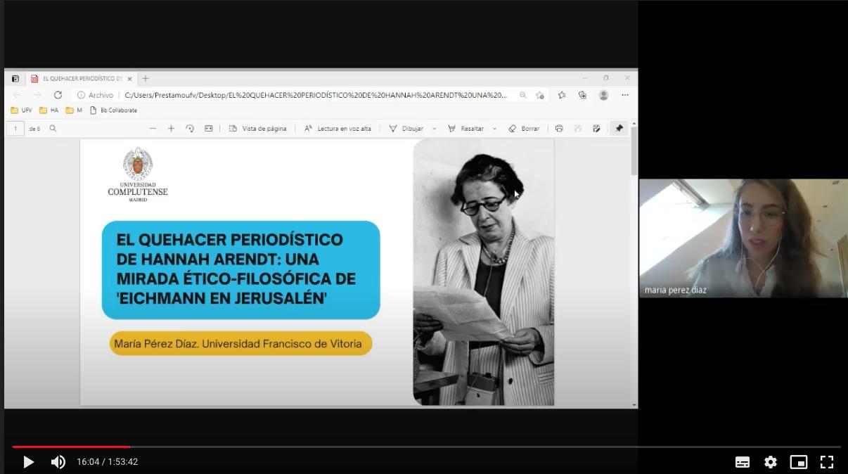 congreso maria perez María Pérez Díaz participa en el VI Congreso Internacional de Ética de la Comunicación Estudiar en Universidad Privada Madrid