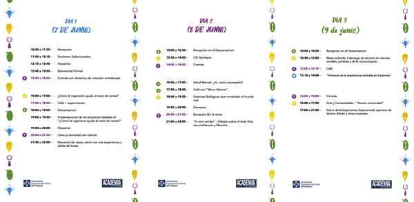 Cartel 3 dias juntos La Academia de Aliados de la UFV organiza las jornadas Una Experiencia Exponencial Estudiar en Universidad Privada Madrid