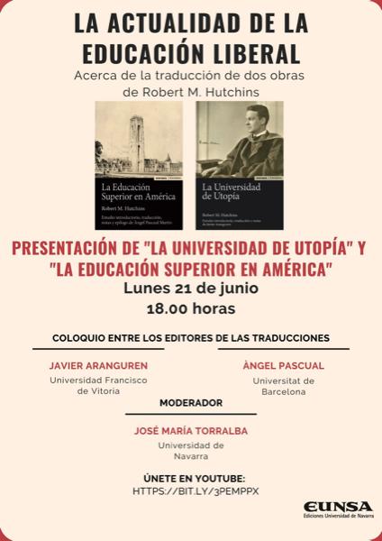 Libro javier Aranguren Javier Aranguren, profesor de la UFV, presenta el libro que ha traducido: La Universidad de Utopía Estudiar en Universidad Privada Madrid