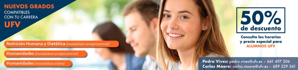 banner nuevos grados ufv Documentación matrícula Estudiar en Universidad Privada Madrid